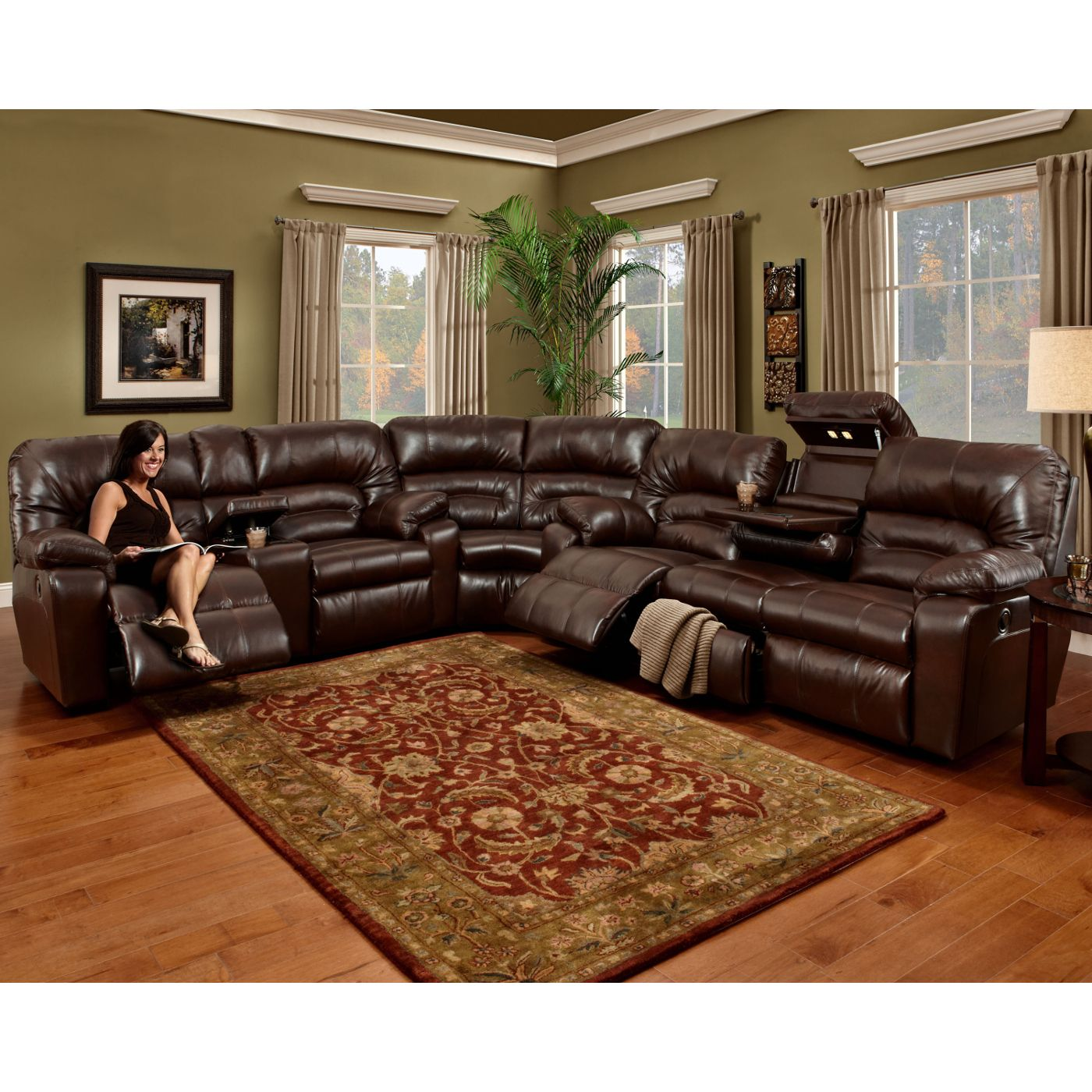 Dakota Living Room Sofa Loveseat Wedge Sectional Rustic