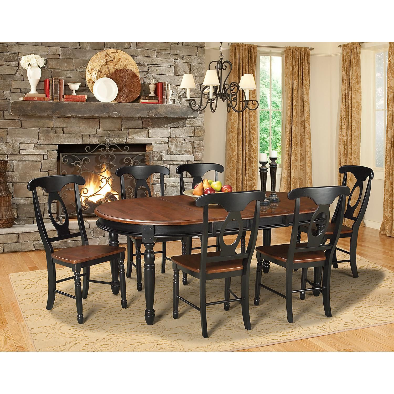 jacob solid wood dining set assorted sizes  sam's club