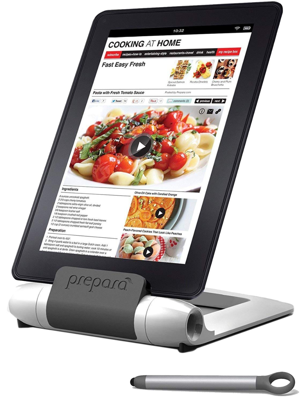 Prepara Pp08 Prepwt White Iprep Adjustable Stand For Phones Tablets E Readers Large Tablet Stand Tablet Apple Iphone 5s