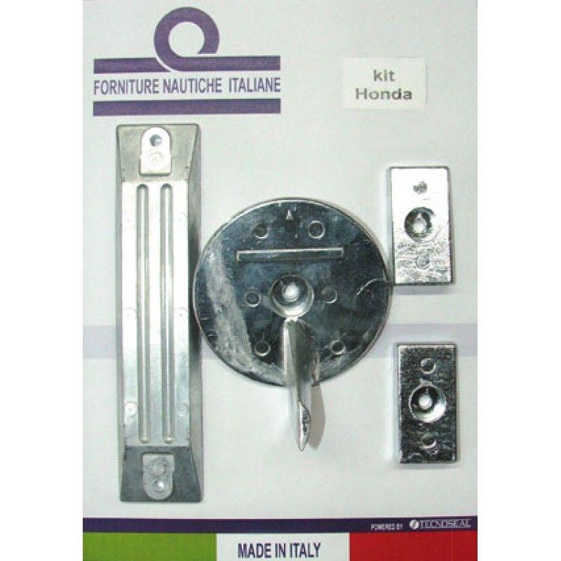 En Oferta con Descuento Kit anodos aluminio para Honda BF 75-90-115-130, ahora con precio rebajado, Kit Honda BF 75-90-115-130 contains: OEM code 41107-ZW1-B01ZA, 06411-ZW1-000, 41109-ZW1-B00, accesorios para barcos, accesorios nauticos, tienda nautica, r
