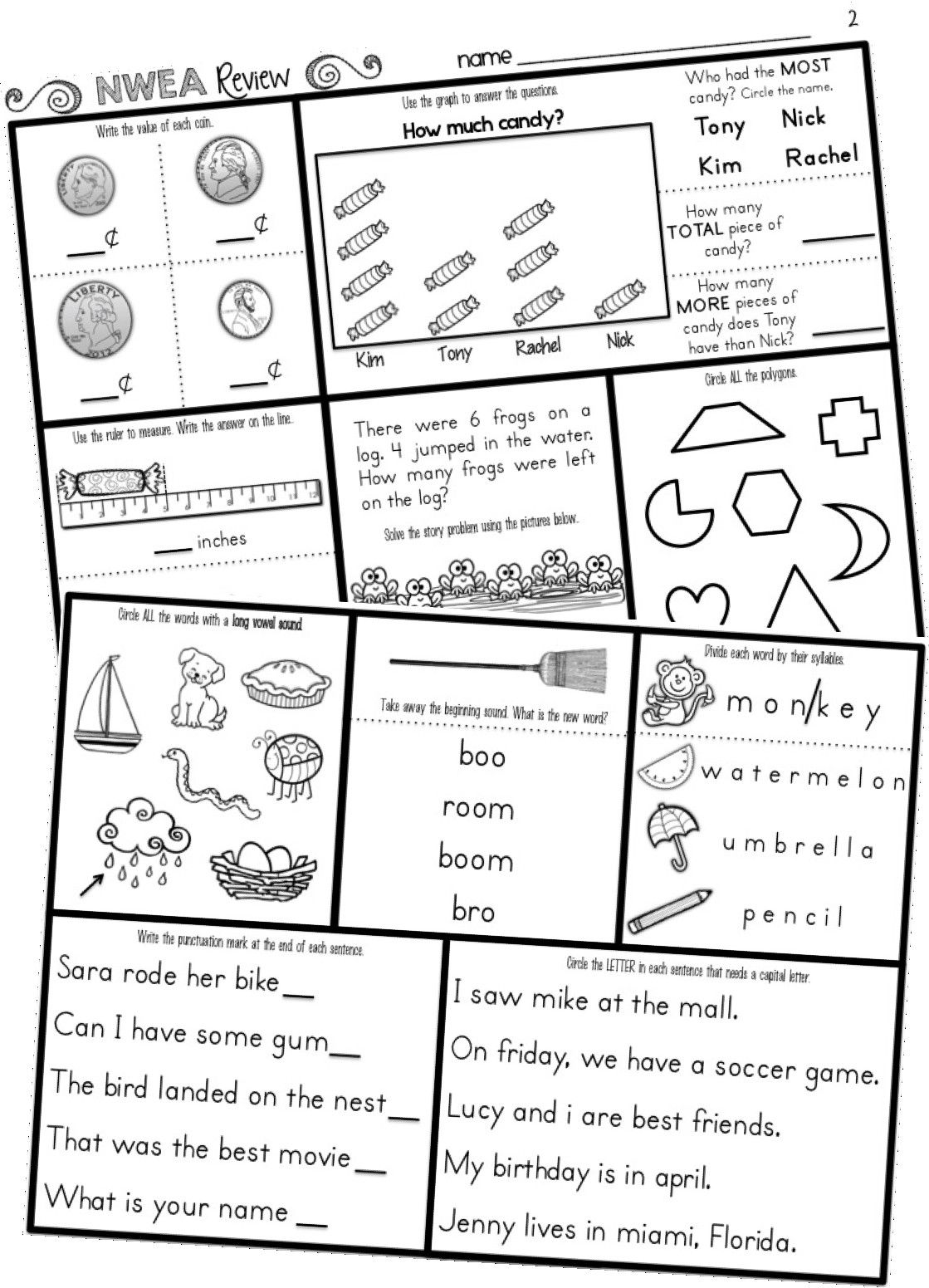 Stratagempurple 5th Grade Math Mon Core Practice Test