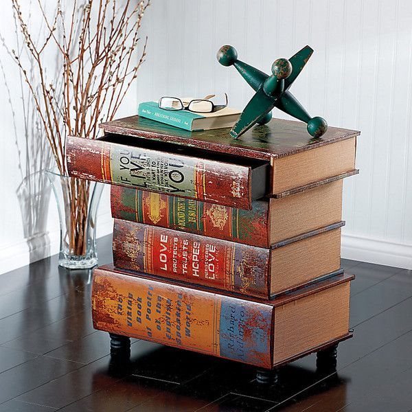 Old World Stacked Book Storage Table 9 445 Php Liked On