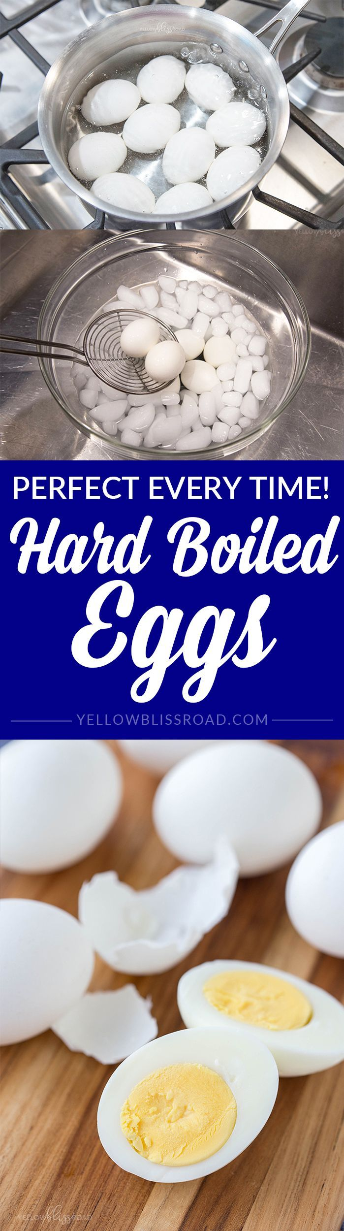 Perfect Hard Boiled Eggs (How to Boil an Egg) | YellowBlissRoad.com #hardboiledeggs