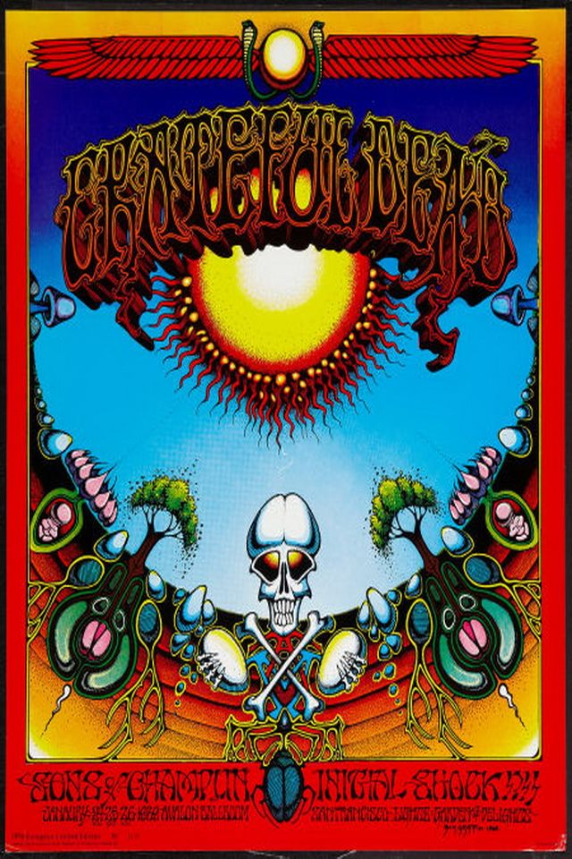 GRATEFUL DEAD VINTAGE CONCERT POSTER Rare Hot New