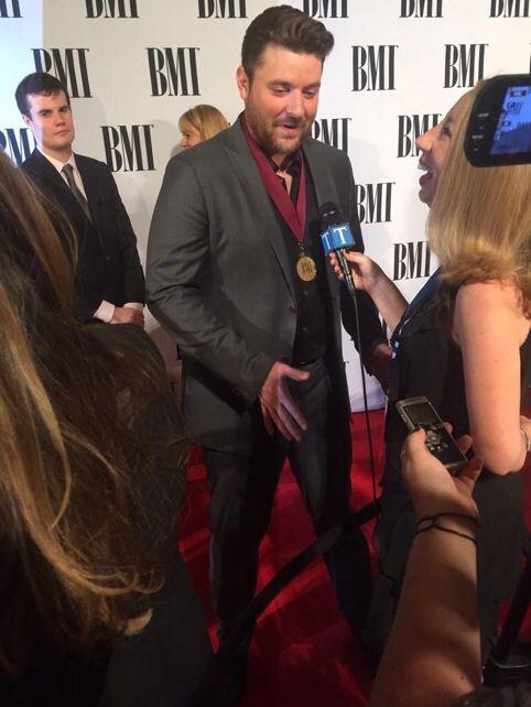 Chris Young at the BMI awards.