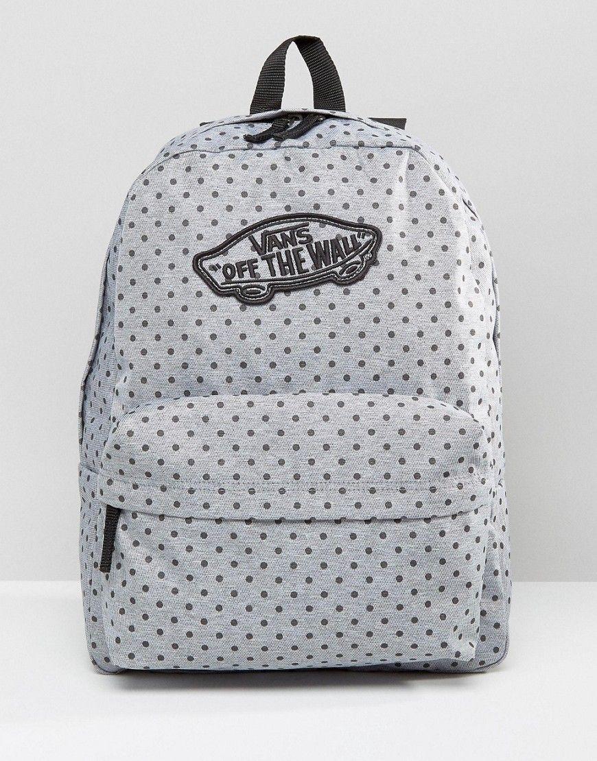 924c7343de Image 1 of Vans Realm Backpack In Polka Dot Print