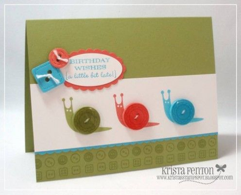 Button greeting cards ideas for handmade homemade card for Make your own singing christmas card