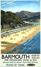 Vintage British Rail Barmouth Railway Poster A3//A2 Print