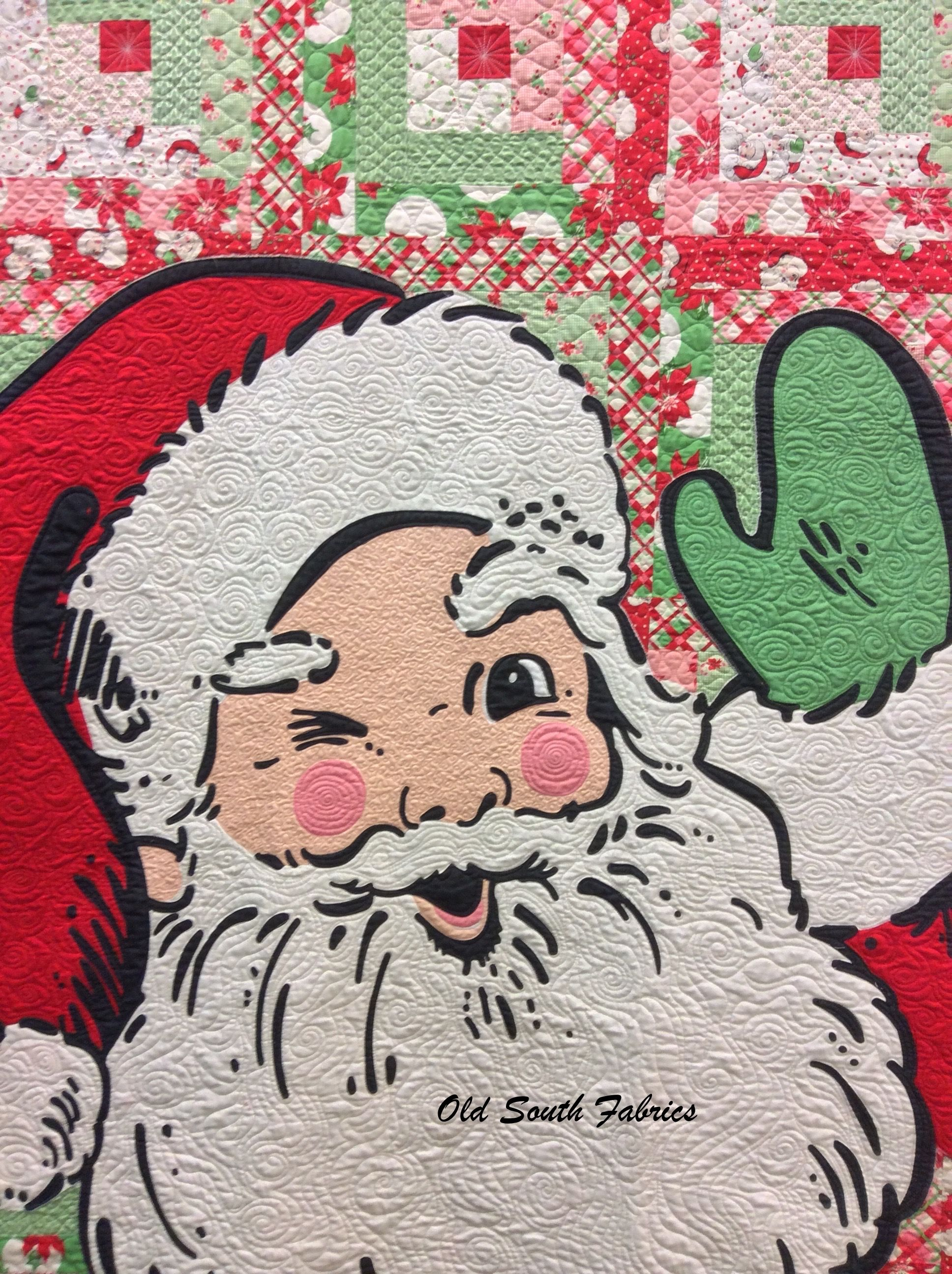 Pre Order Swell Christmas Quilt Kit Now From Old South Fabrics Http Www Oldsouthfabrics Com Shop Fabric Fabri Christmas Quilts Santa Quilt Swell Christmas