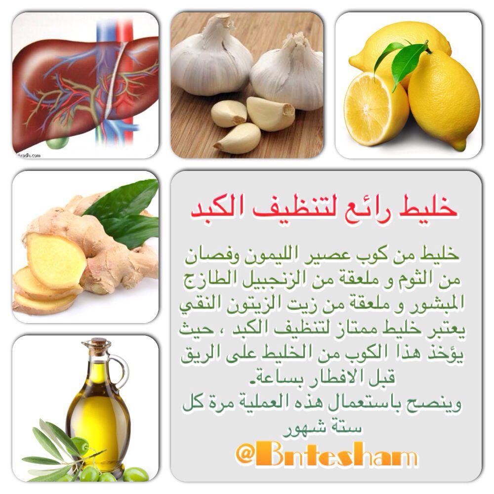 Syria Health Tips Roulanaji ثوم زيت زيتون زنجبيل ليمون فوائد كويت سوريا سعودية لبنان مشروب تنظيف الك Health Facts Food Health Food Food Medicine
