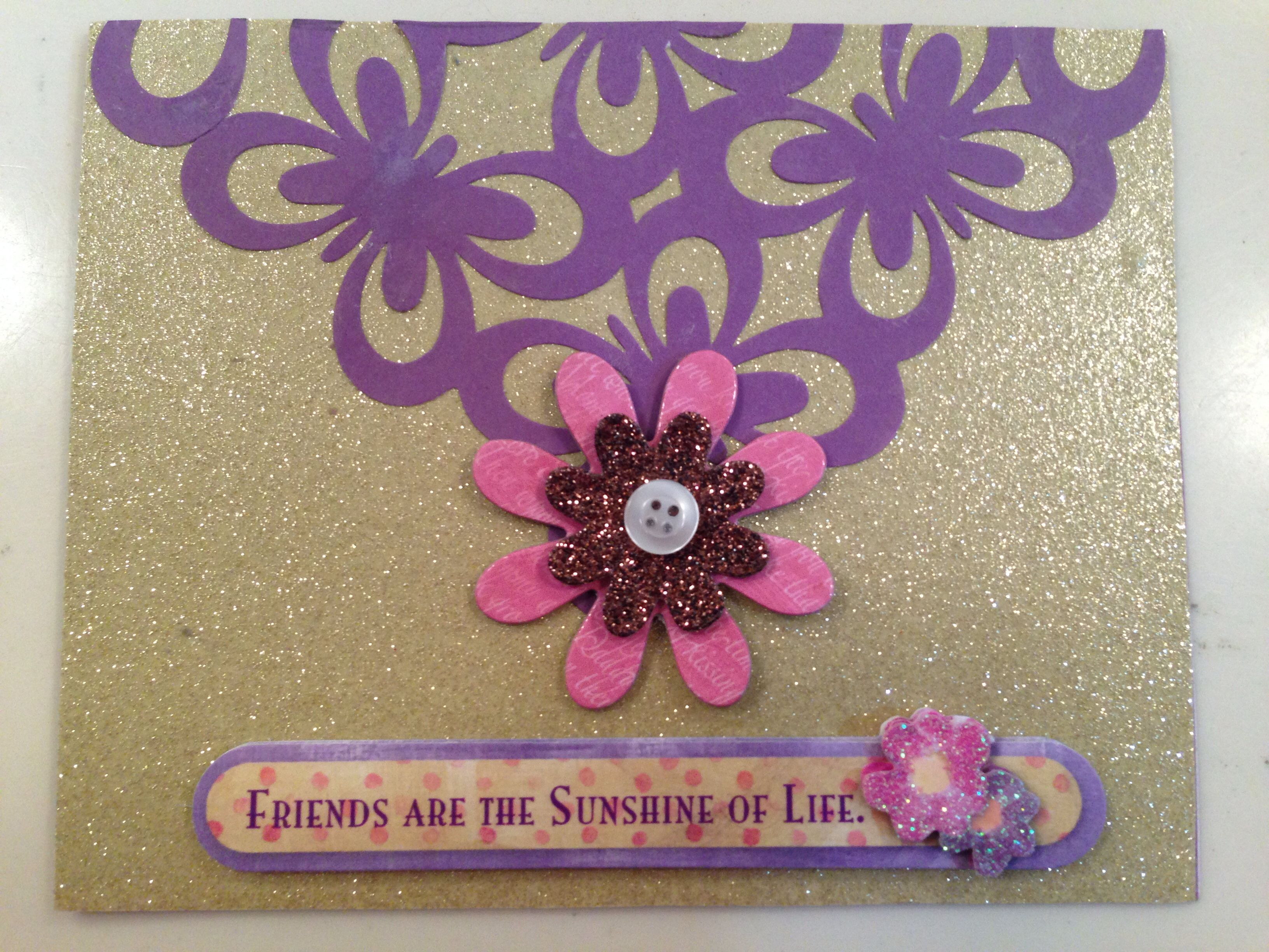This Is A Sweet Handmade Homemade Greeting Card That I Made To Send