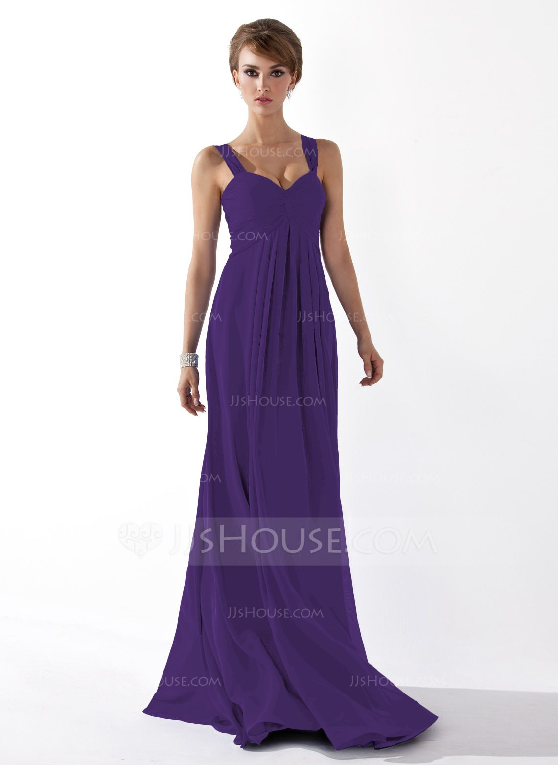 Lujoso Vestido De La Dama De Honor Azul Festooning - Vestido de ...