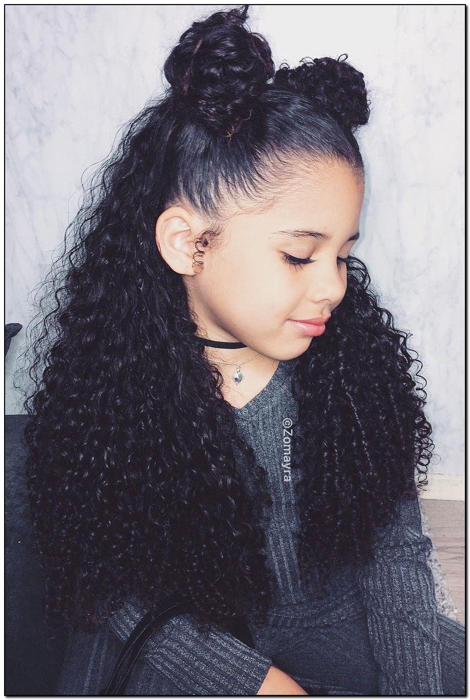 30 Peinados Para Ninas Hermosos Faciles Y Rapidos De Hacer 2020 In 2020 Mixed Curly Hair Mixed Girl Hairstyles Picture Day Hair