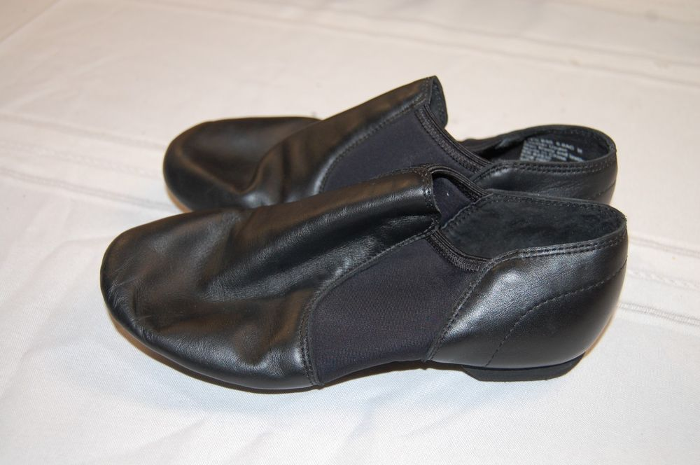 5fe537929d74 Balera Slip on Leather Jazz Shoes Black Child 6 M STYLE 880 BALLET ...