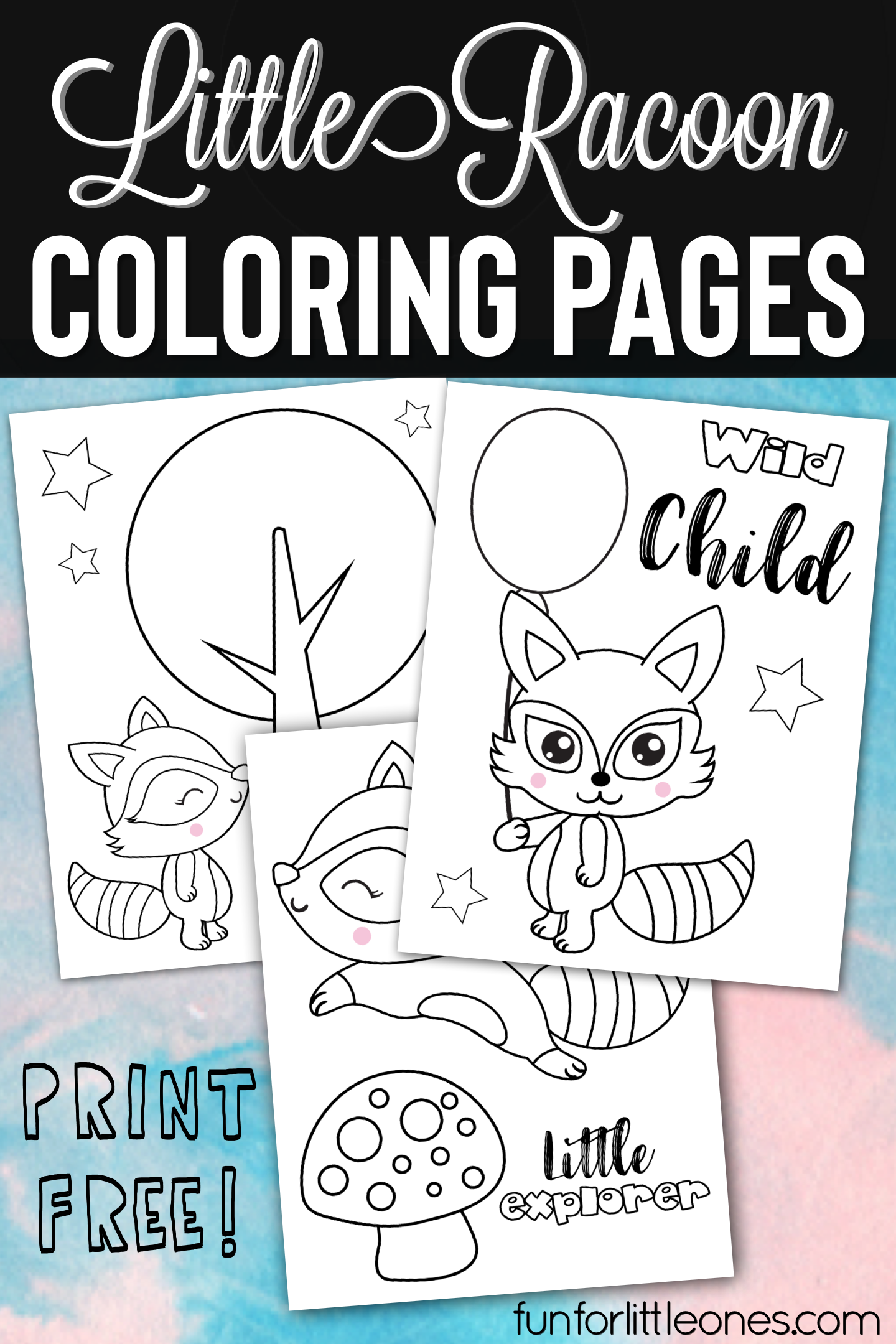 Little Raccoon Coloring Pages For Kids Fun For Little Ones Coloring Pages Train Coloring Pages Coloring Pages For Kids