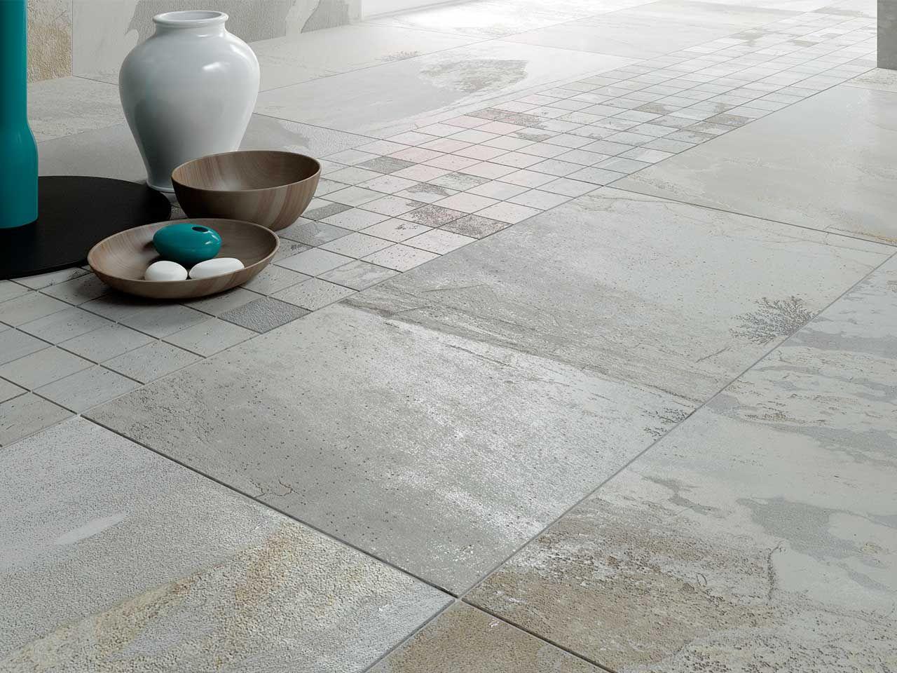 Pavimento in gres porcellanato effetto pietra serie bengal winter