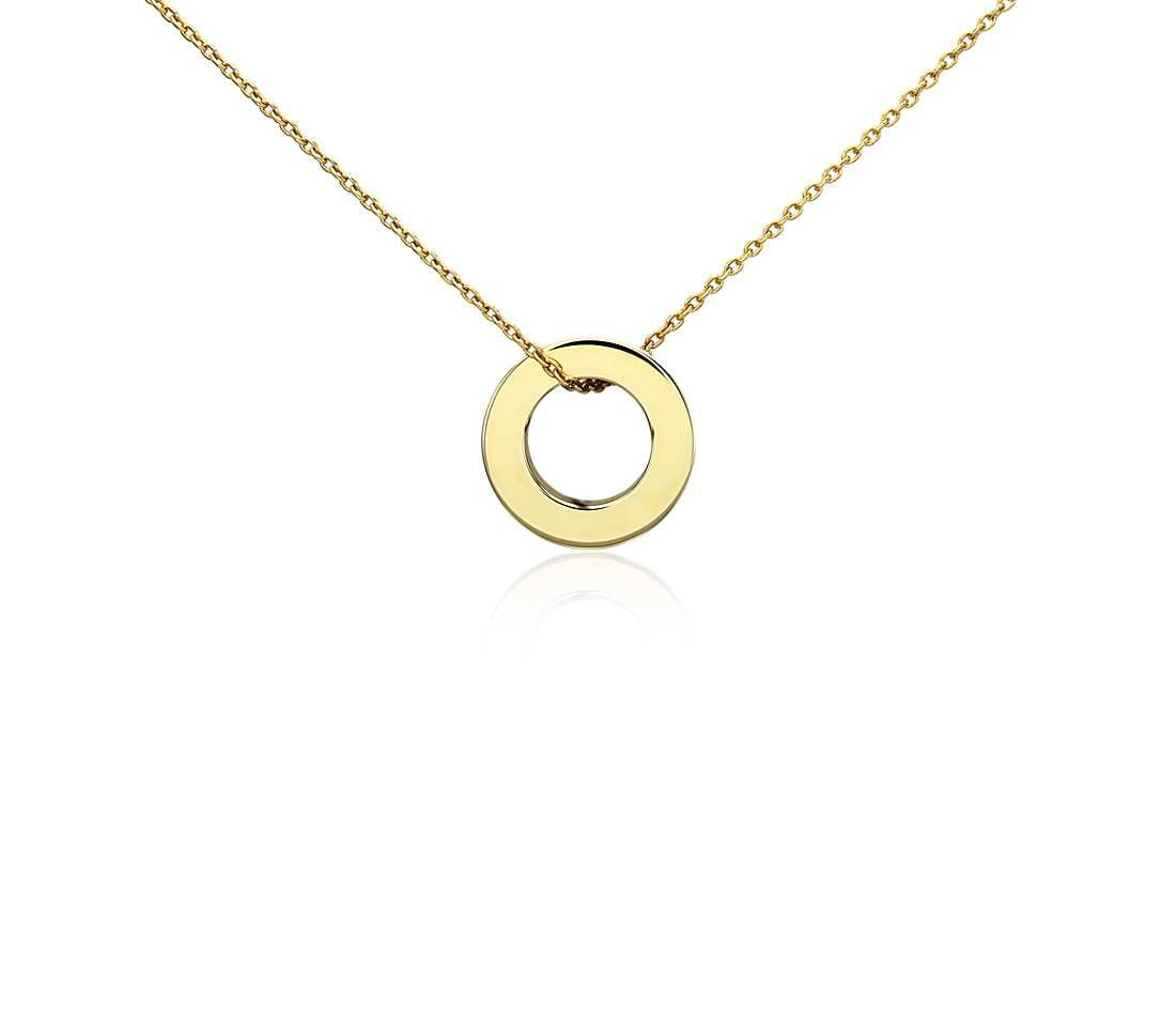 Petite circle pendant in 14k yellow gold petite pendants and blue petite circle pendant in 14k yellow gold blue nile aloadofball Image collections