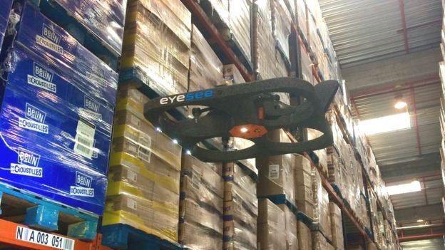 The Flying Drones That Can Scan Packages Night And Day Drone Day For Night Drone Business