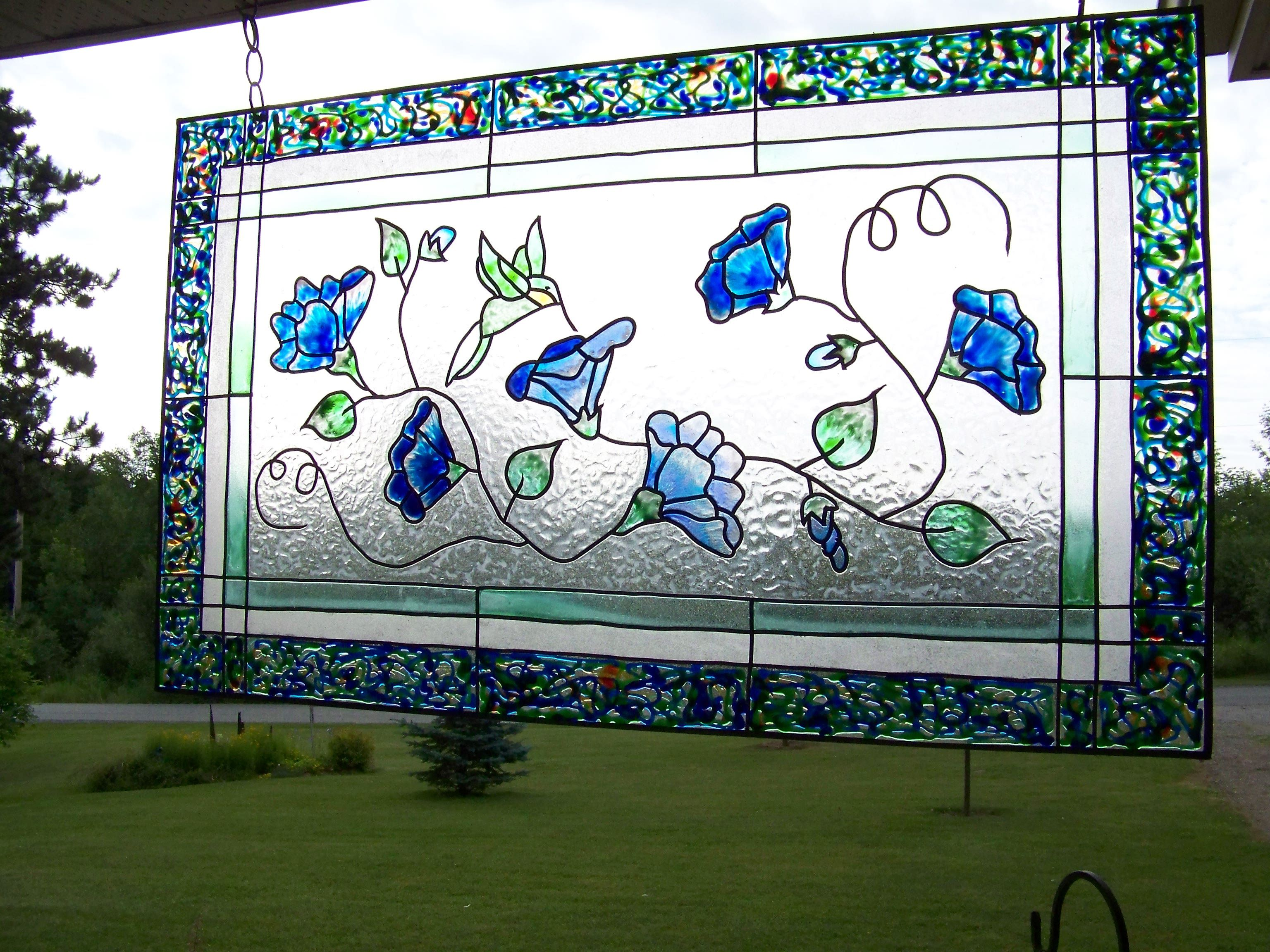 Stick On Stained Glass.Faux Stained Glass On Plexiglas Using Peel And Stick Lead