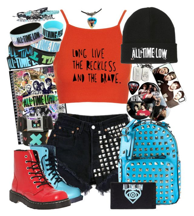 """All Time Low"" by neverland-is-just-a-dream-away ❤ liked on Polyvore featuring Valentino, Topshop and T.U.K."