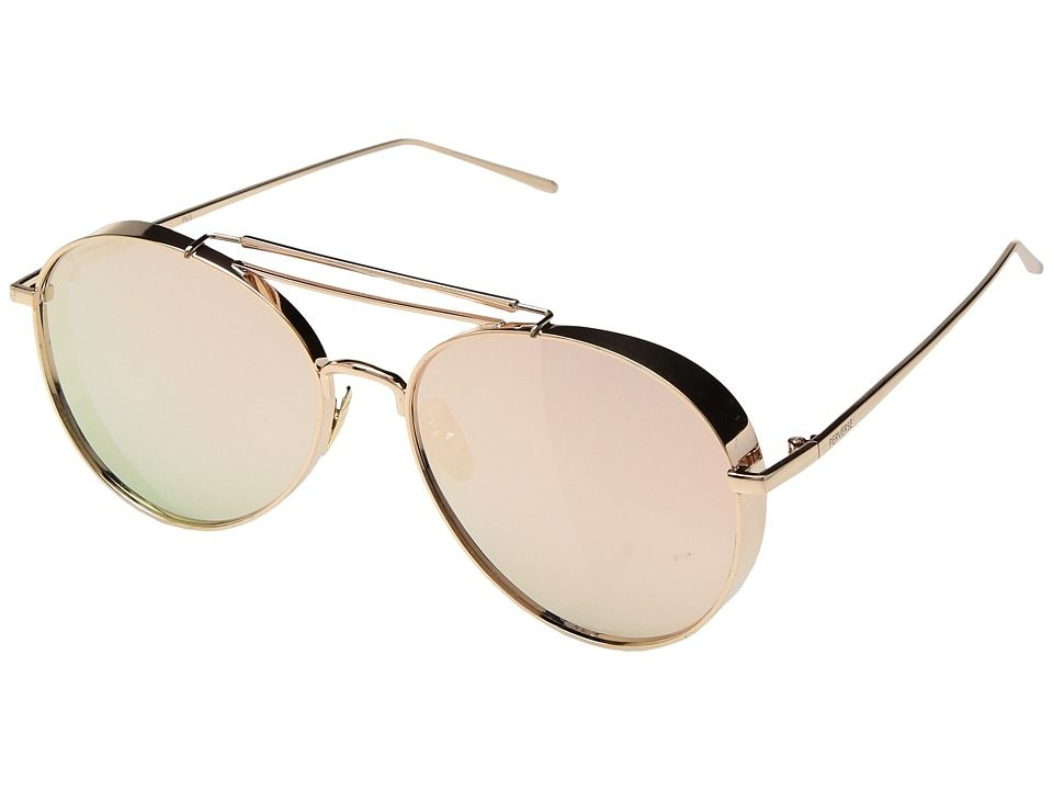 02b4f96f3a PERVERSE Sunglasses Solid Rose Gold Fashion Sunglasses Ballerina Rose Gold  Metal Rose Gold Mirrored