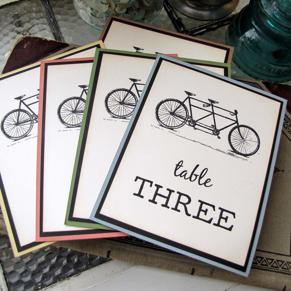 Tandem Bicycle Wedding Reception Table Numbers | Wedding Ideas ...