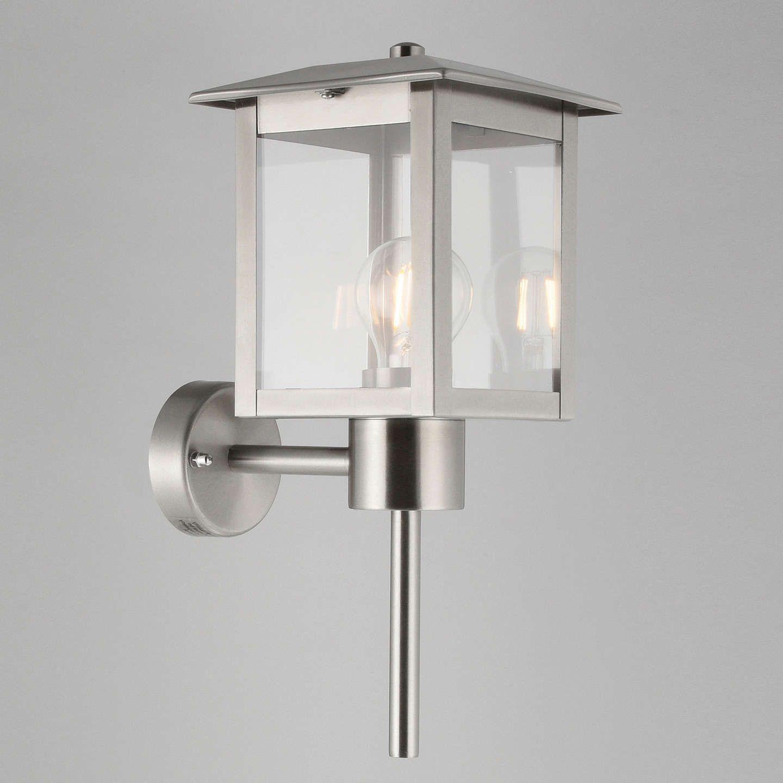 John lewis stowe coach lantern outdoor wall light silver