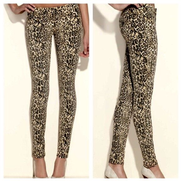 4a7f854896680 Guess Brittney Skinny Jeans- Leopard Mid-rise skinny ankle jeans in leopard Guess  Jeans Skinny