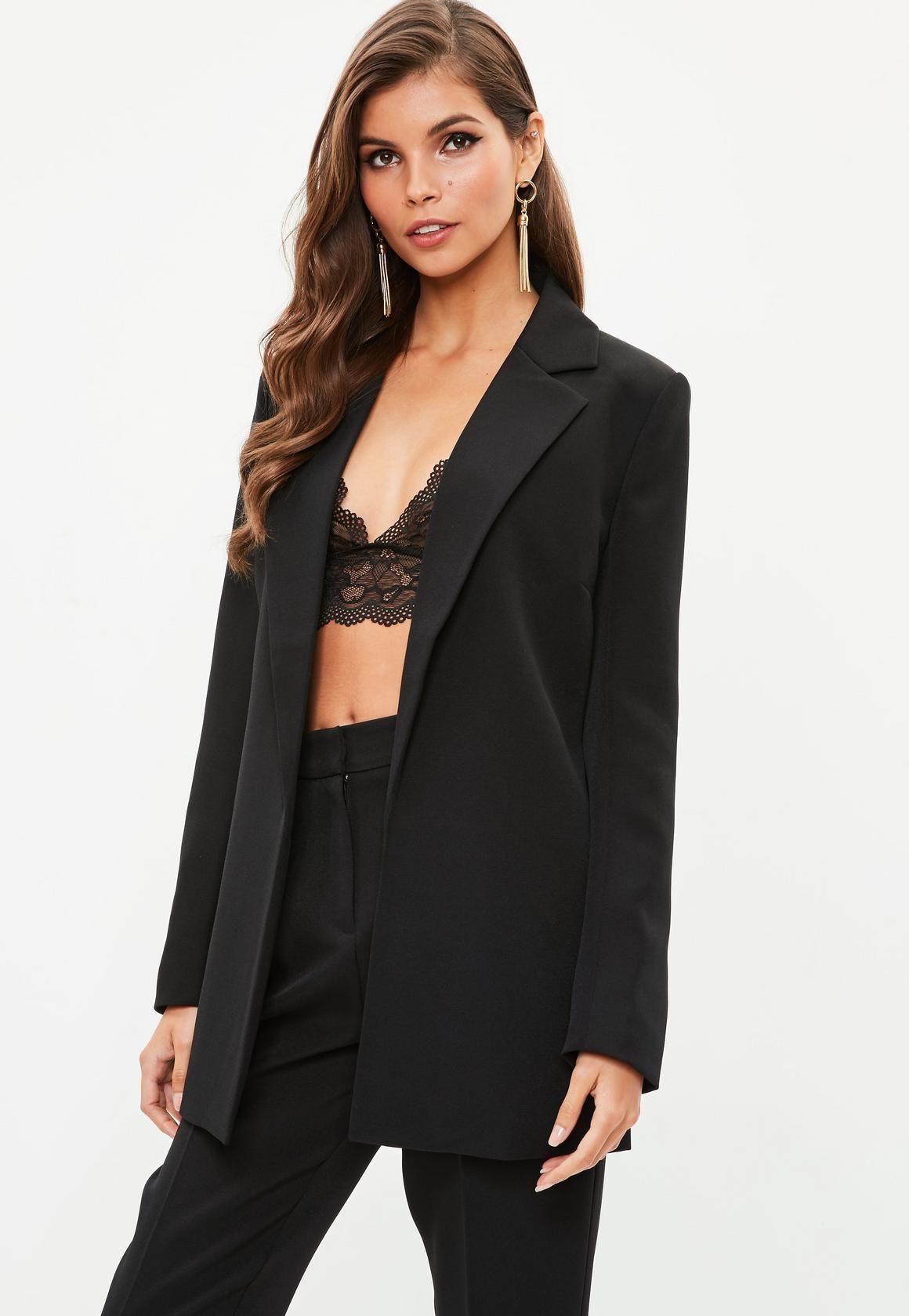 Missguided Black Boyfriend Blazer 60 00 Coats For Women Blazer Outfits Fashion [ 1680 x 1160 Pixel ]