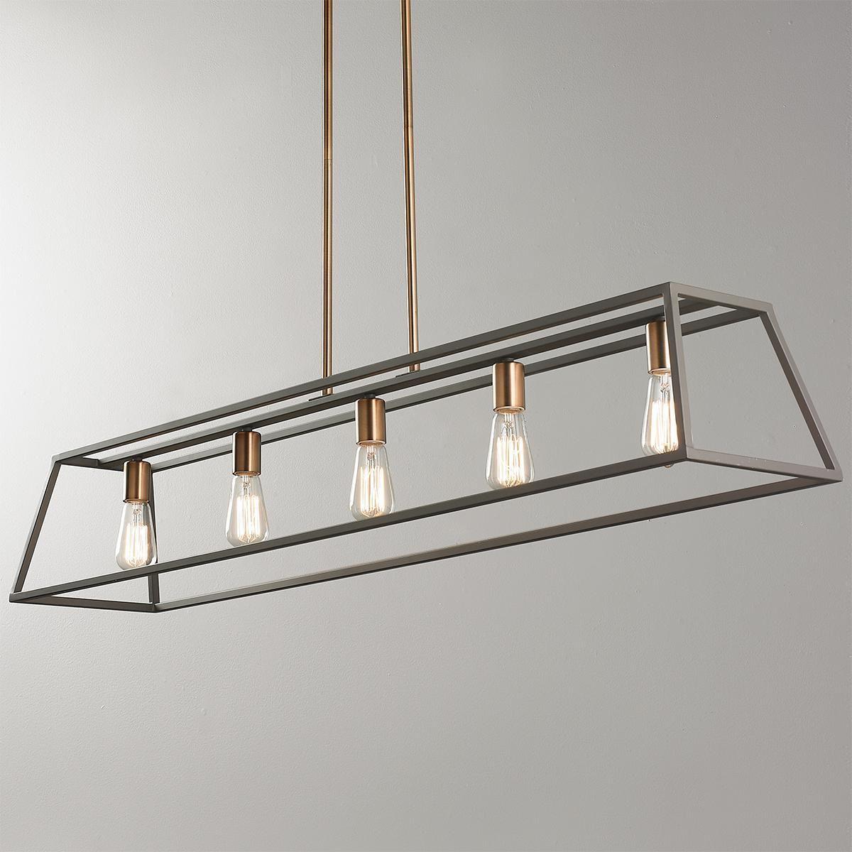 Sleek Minimalist Island Chandelier 5 Light Kitchen Lighting Over Table Pool Table Lighting Dining Table Lighting
