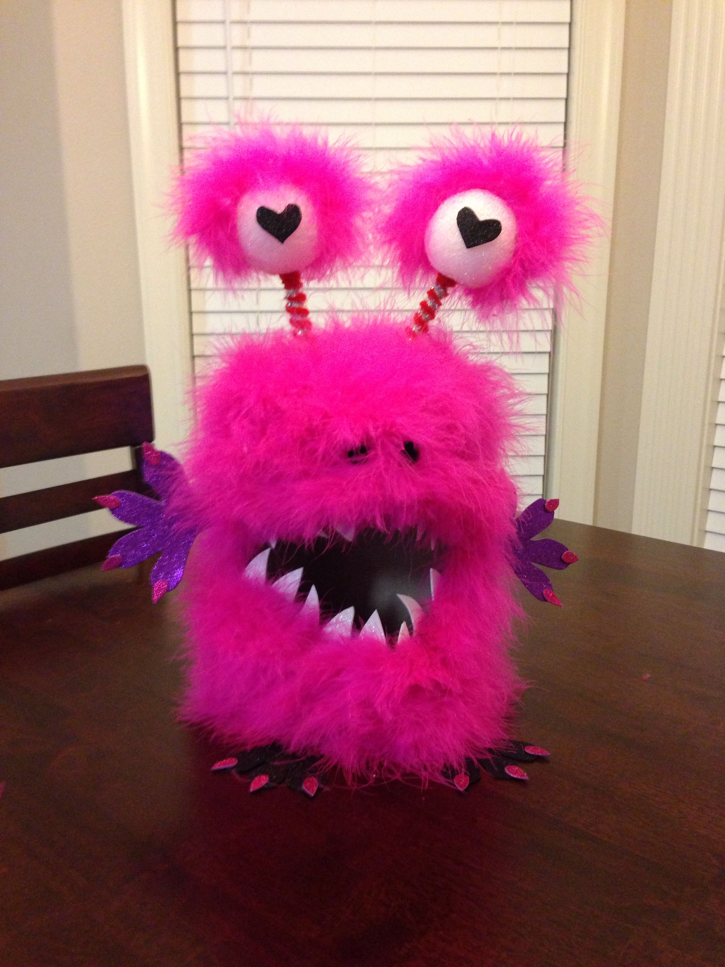 Fuzzy Monster Valentines Box