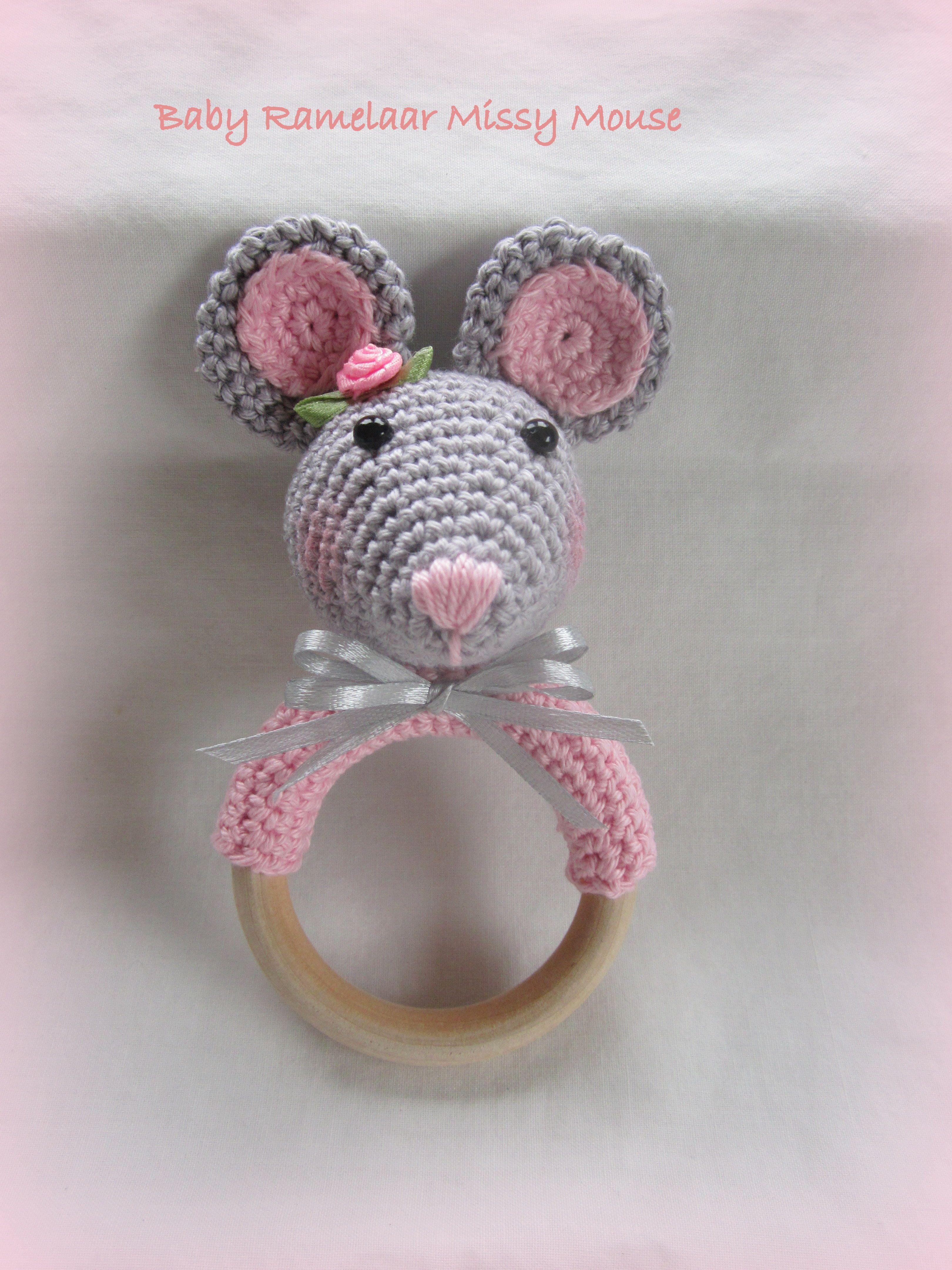 Baby Rammelaar Missy Mouse Gratis Patroon Pinterest Crochet