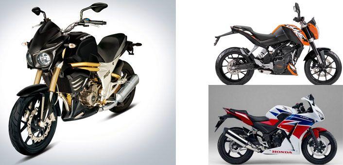 Mahindra Mojo vs KTM Duke 200 vs Honda CBR250R http://blog.gaadikey.com/mahindra-mojo-vs-ktm-duke-200-vs-honda-cbr250r/