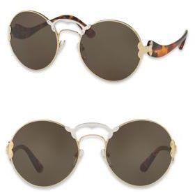 83ed44007e Prada 57MM Round Two-Tone Sunglasses  sunglasses  womens  summer ...