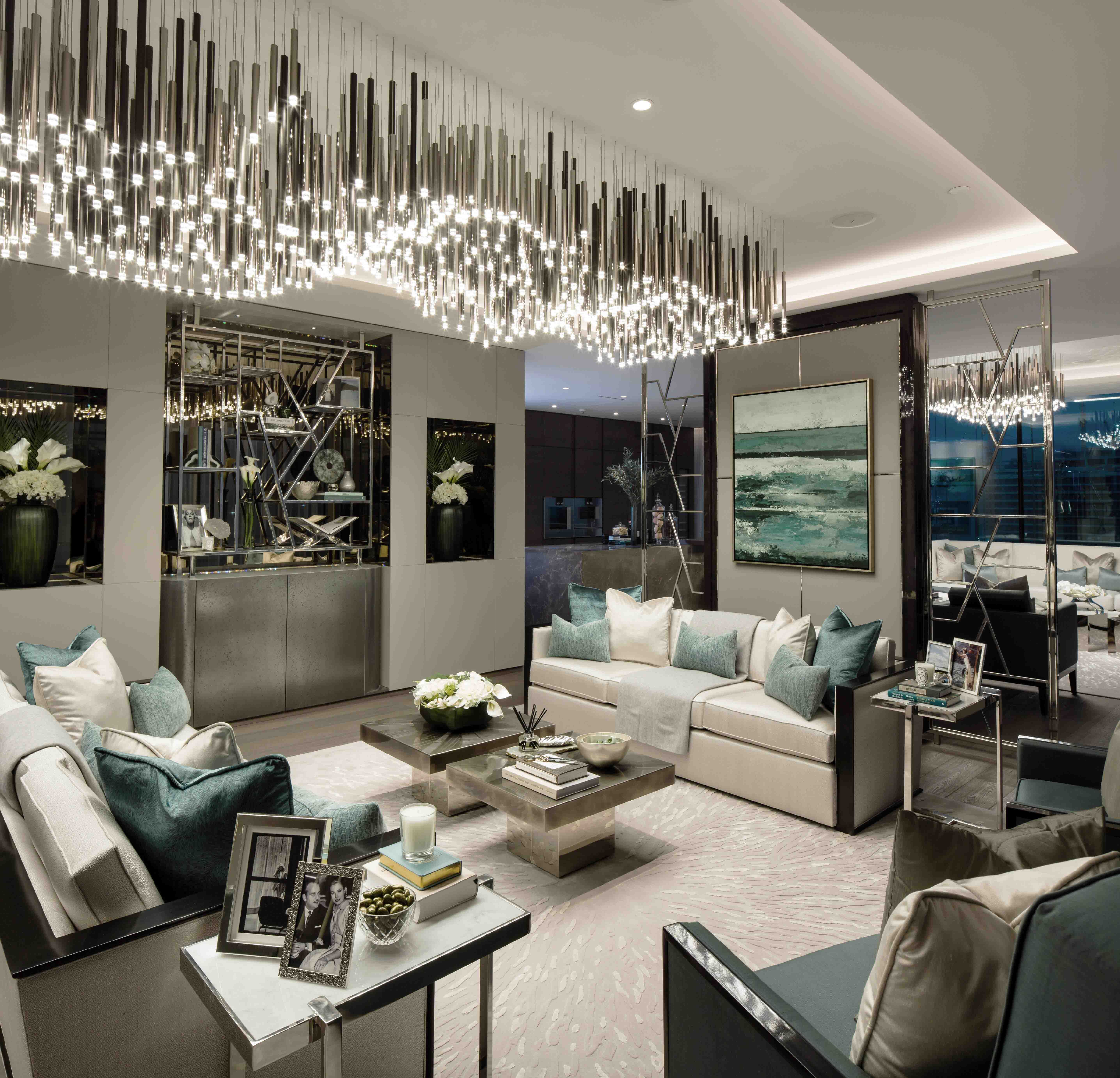 One palm jumeirah apartment luxury interior design in dubai elicyon