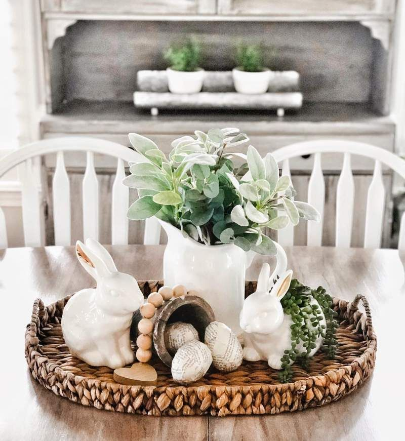 40 Beautiful Easter Decorations That Will Transform Your Home In 2021 Easter Table Decorations Diy Easter Decorations Easter Diy Easter decorations for living room