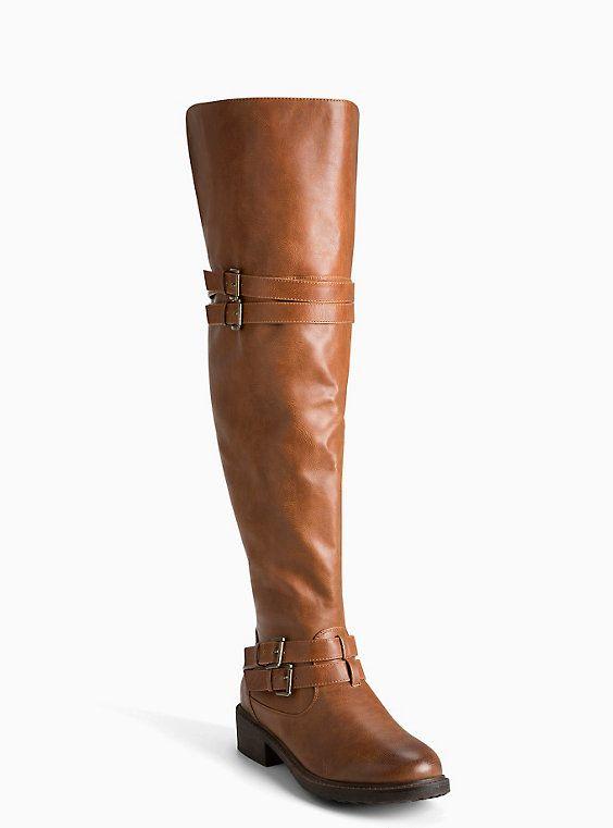 30ca5ac1da09 SIZE 11 Plus Size Over The Knee Multi Strap Boots (Wide Width   Wide Calf)