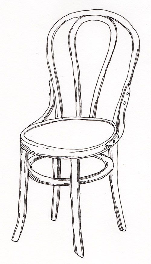 Room Drawing Pencil: Pen, Pencil, Paper—Draw!: Contour Drawing Of A Chair (With