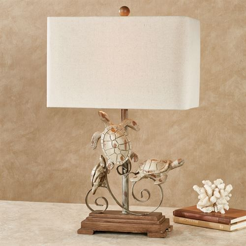 Seda Sea Turtle Table Lamp Tawny Coastal Decor Pinterest