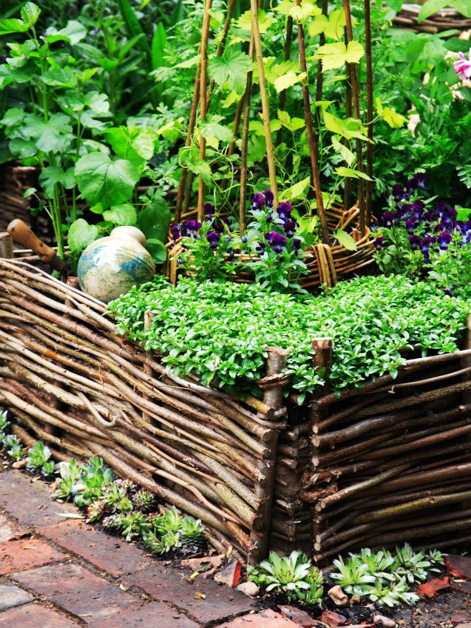 creative raised garden bed designs you should try woven wicker