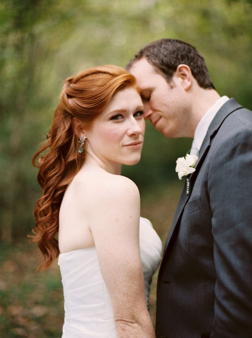 redheaded bride. knoxville, tn wedding. hair by tony williams