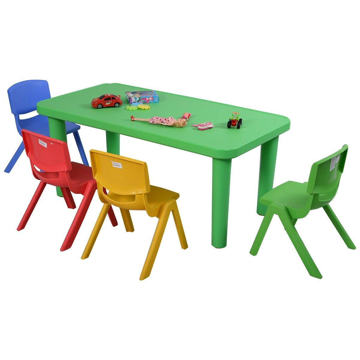 Set Plastic Kids Table And Chairs