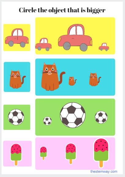 Worksheet: What is bigger? | Worksheets, Activities and Kindergarten ...