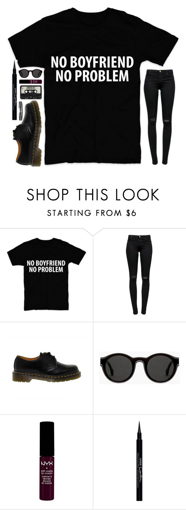 """""""Future Valentine's Day Outfit"""" by weirdestgirlever ❤ liked on Polyvore featuring J Brand, Dr. Martens, Mykita, NYX and Givenchy"""