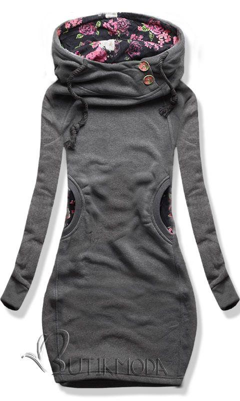 Sweatjacke D050 grau | Kleidung, Bekleidung, Damen bekleidung