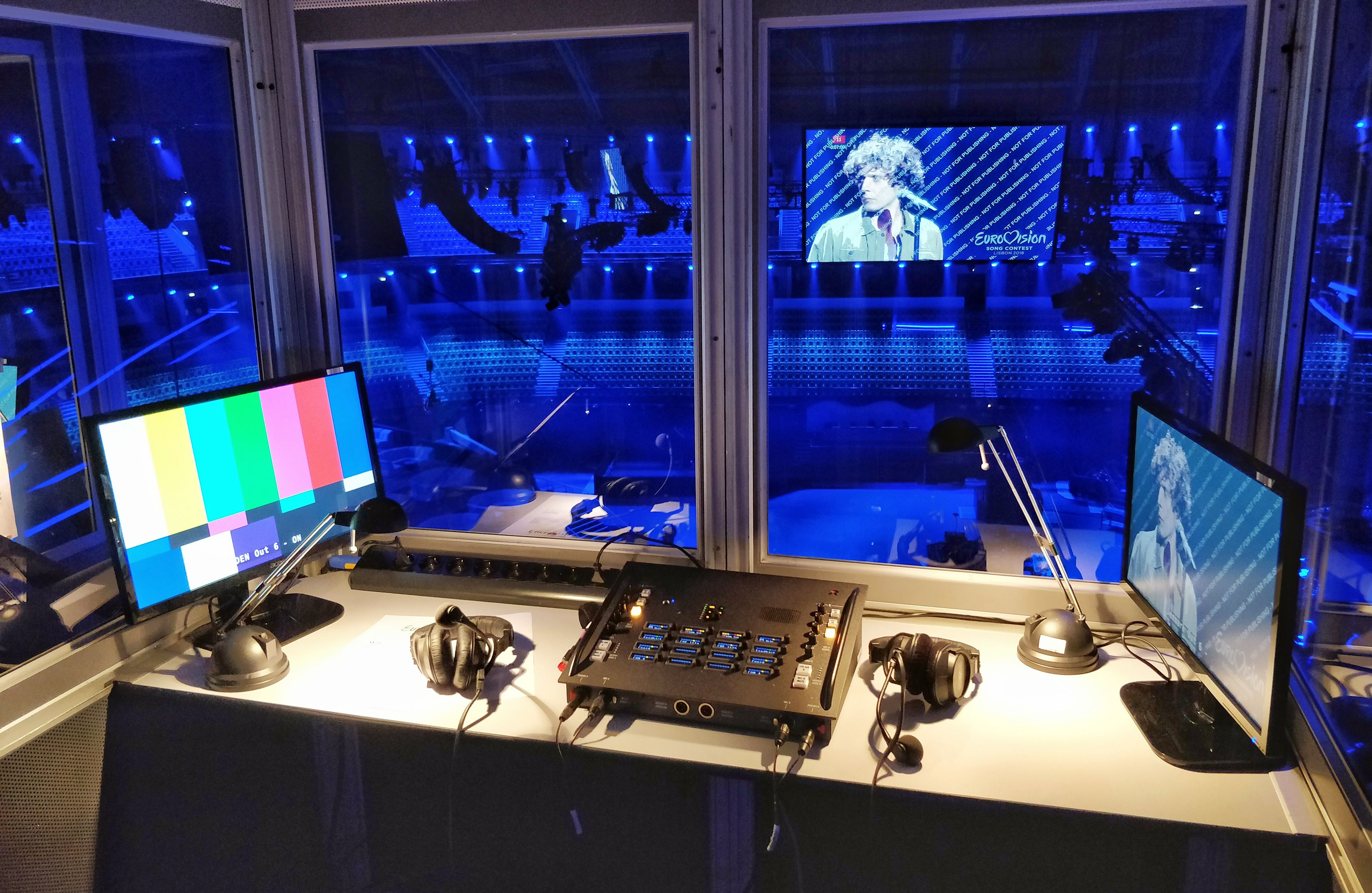 Eurovision Song Contest In The Making Large Intercom With More Than 1 000 Ports All Video On Mediornet Audio O Eurovision Song Contest Music Stuff All Video