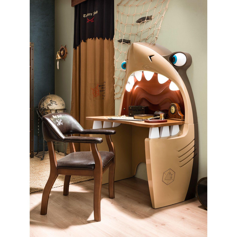 "Pirate Shark 40.16"" W Writing Desk In 2019"