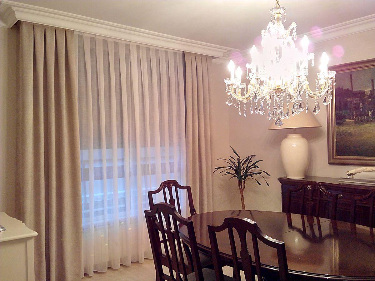 Resultado de imagen de cortinas para salones elegantes for Cortinas para salon