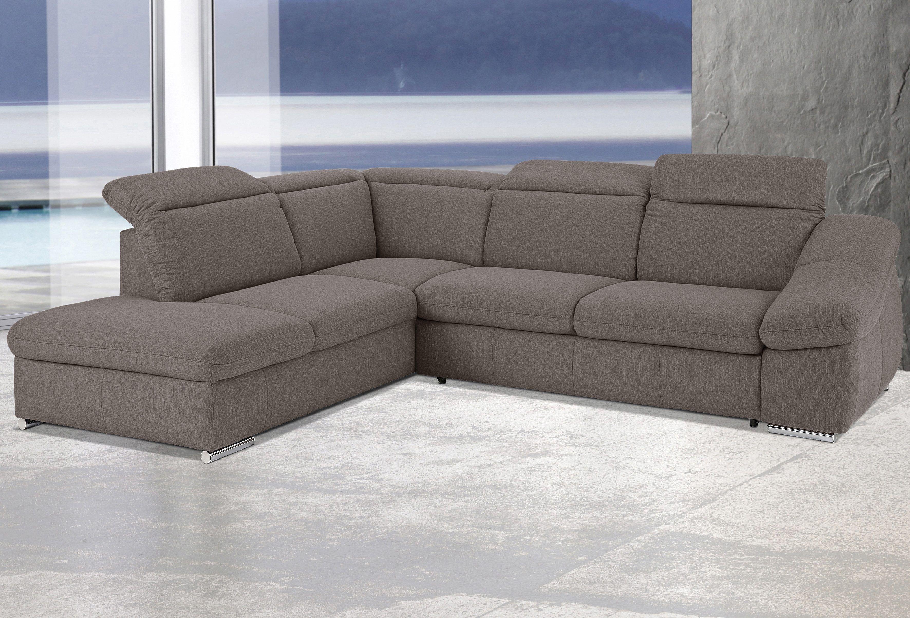 Inspiring Ecksofa Bettfunktion Best Choice Of Sit&more Braun, Ottomane Links, Mit Bettfunktion, Fsc®-zertifiziert