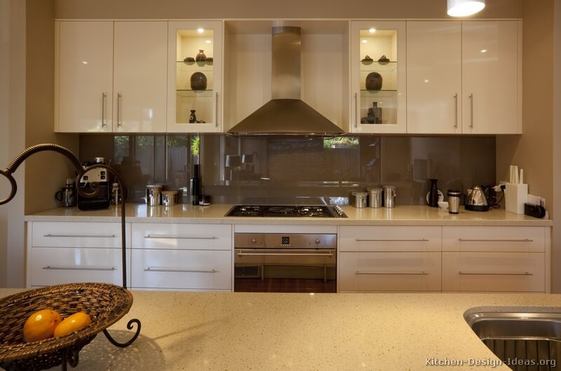 Kitchen Idea of the Day Modern CreamColored Kitchen with back